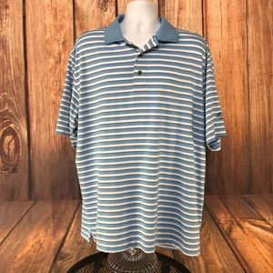Footjoy Mens size XL blue white stripe